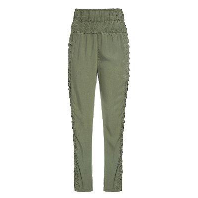Calça Pijama Pregas Militar