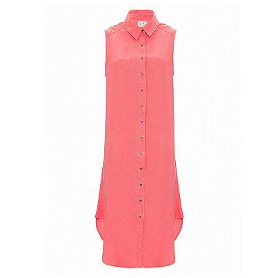 Vestido Chemise Tencel Rosa