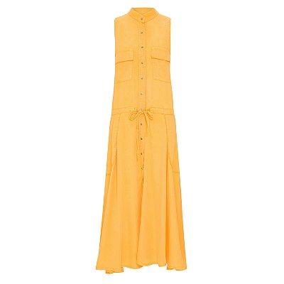 Vestido Saia Rodada Amarelo