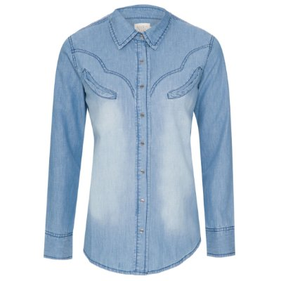 Camisa Jeans Western Jeans clara