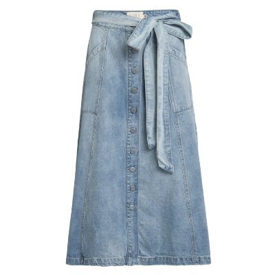 Saia Botões Jeans