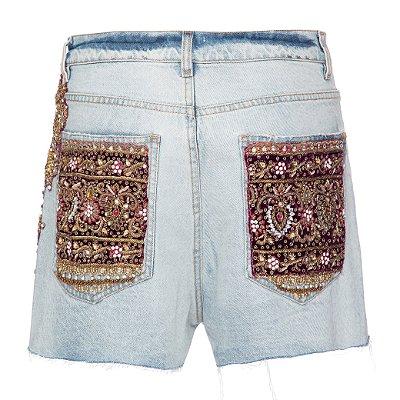Shorts Básico Índia Vinho