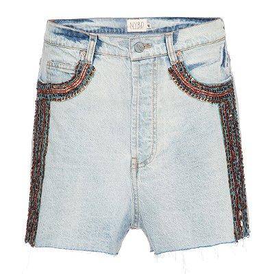 Shorts Básico Índia listra azul lateral