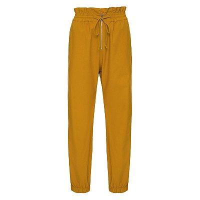 Calça Pijama Babados Mostarda