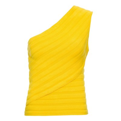 Regata Tricot 1 Ombro Amarela