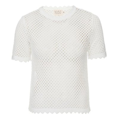 T-Shirt Tricot Furadinha Off White