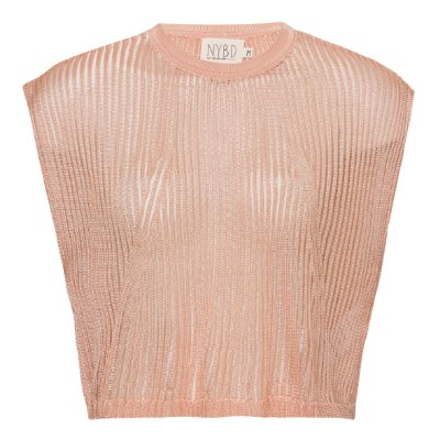 Camiseta Cropped Tricot Nude