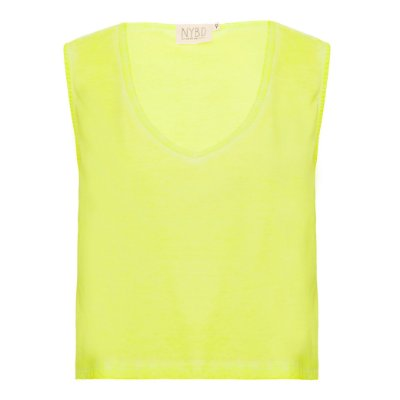 Camiseta Decotão Cropped Lime