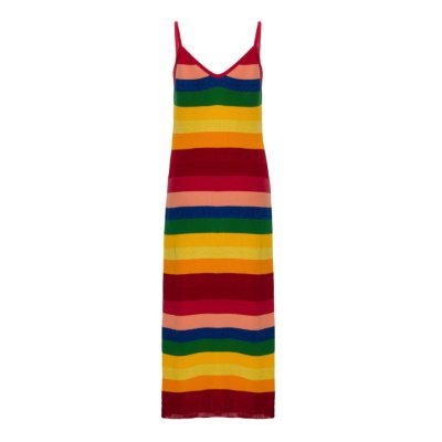 Vestido Regata Tricot Arco-Íris