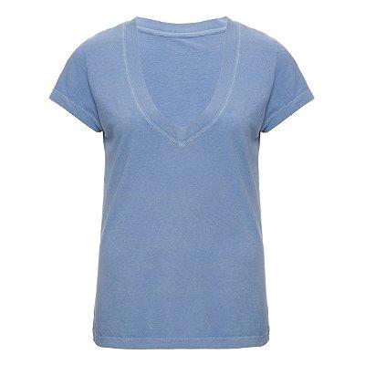 Camiseta Gola V Azulzinho