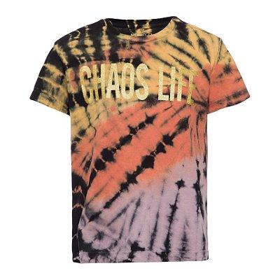 Camiseta Chaos Life Dourada KIDS