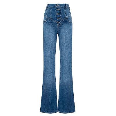 Calça Espadrille Longa Jeans