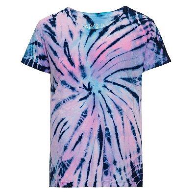 Camiseta básica tie dye Colorido
