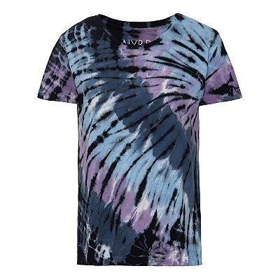 Camiseta básica tie dye Preto