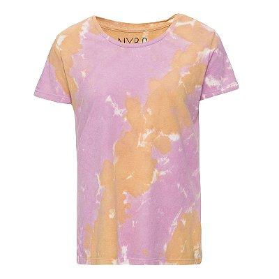 Camiseta básica tie dye Rosa
