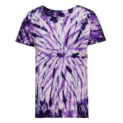Camiseta básica tie dye Roxo