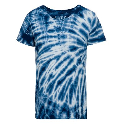 Camiseta básica tie dye Azul