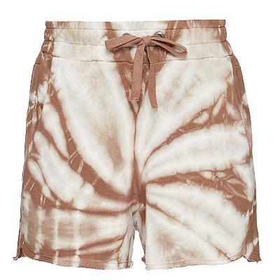 Shorts Moletom Tie Dye Bege