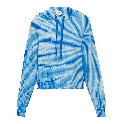 Moletom Capuz Tie Dye Azul Claro