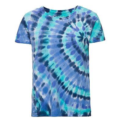 Camiseta básica tie dye Turquesa