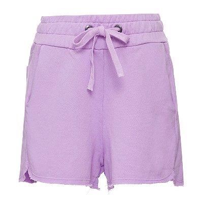 Shorts Moletom Lilás