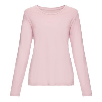 Camiseta básica manga longa Lisa Nude