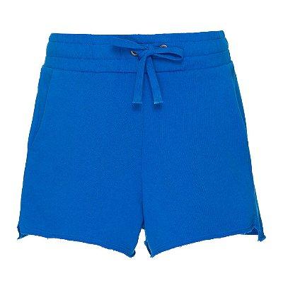 Shorts Moletom Azul Bic