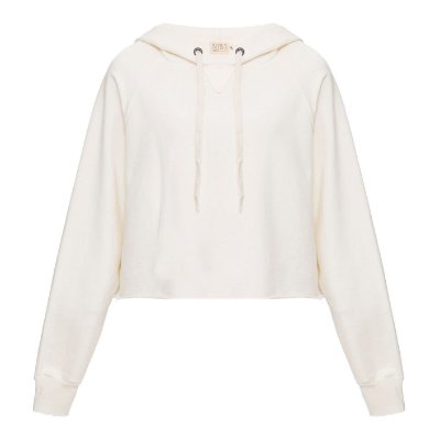 Moletom Capuz Liso Off White