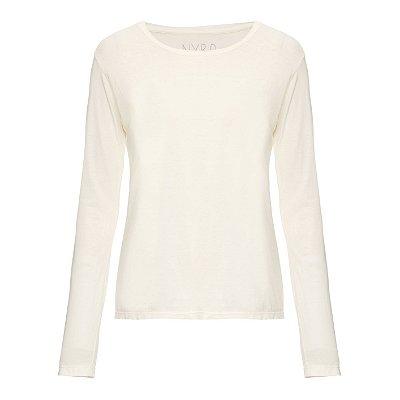 Camiseta básica manga longa Lisa Off White