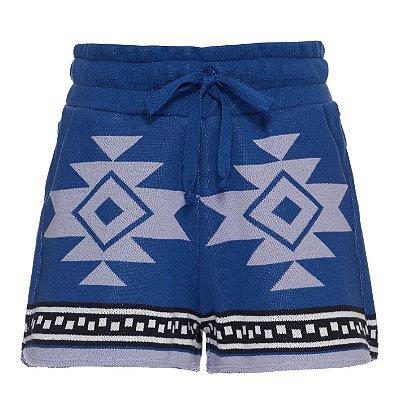 Shorts Kimono Azul