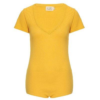 Body Tricot Amarelo