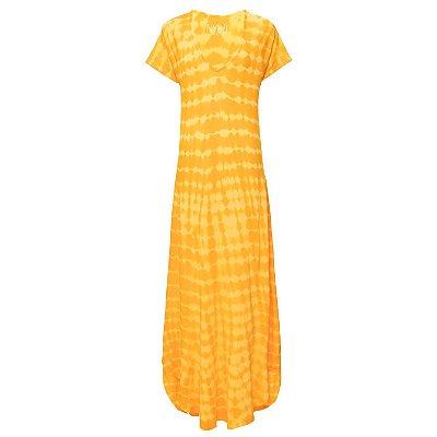 Vestido Languido Tie Dye Amarelo