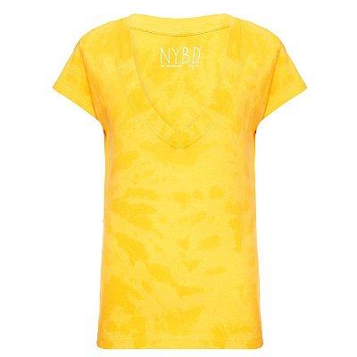 Camiseta Gola V Amarelo