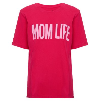 Camiseta Mom Life Cereja
