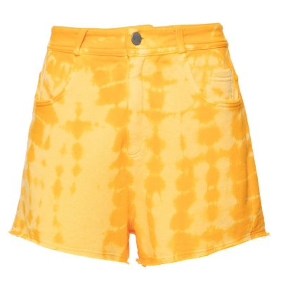 Shorts Five Pockets Tie Dye Amarelo