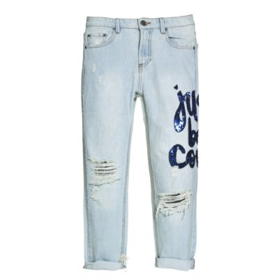 Calça Boyfriend Just be Cool Azul