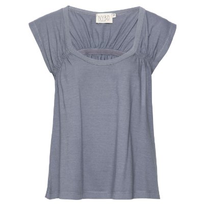 Camiseta Elástico Costas Cinza Chumbo