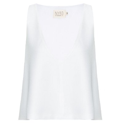 Cropped Crepe Off White