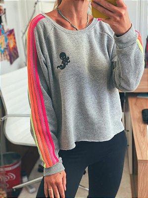 Moletom Rainbow Mescla Ombro Neon