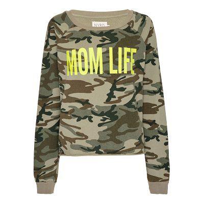 Moletom Mom Life Camuflado Lime