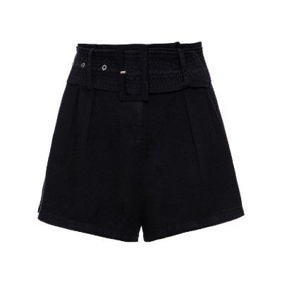 Shorts Saia Pregas Preto