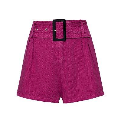 Shorts Saia Pregas Vinho