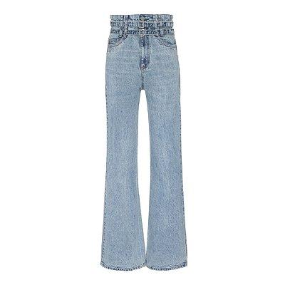 Calça 2 Cintos  Jeans claro
