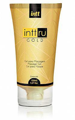 Intt Ru Gold Gel Lubrificante para Massagem  Aroma de Baunilha.