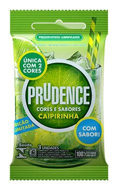Preservativo Prudence Caipirinha - 3 Unidades