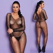 Macacão Body Stockings com Strass Yaffa