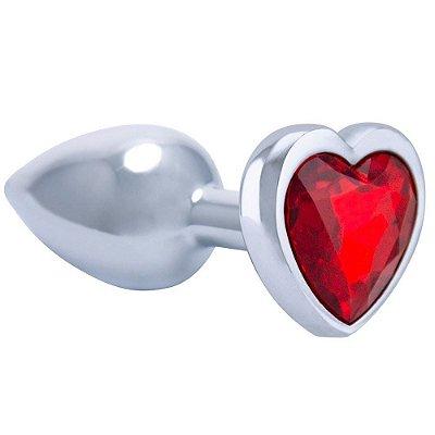 Plug em metal Coração
