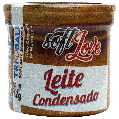 Bolinha Beijável Leite Condensado - Tri Ball Soft Love - 3 Unidades