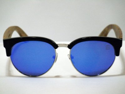 Maverick - PC/madeira/metal - Lente azul