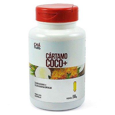 Oleo de Cartamo + Coco 60 Cápsulas 1000 mgs  - Chá Mais